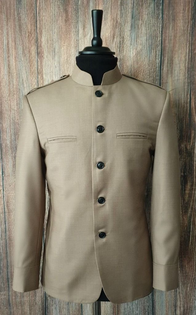 """Duncan"" Taupe 60s Inspired Dress Jacket"