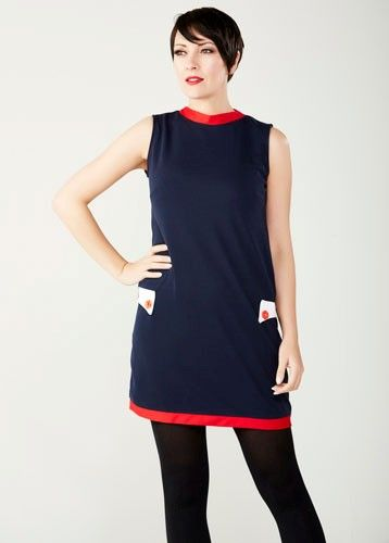"LOVE HER MADLY ""BOBBY"" NAVY & RED"